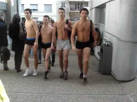 French Team - In Underwear at Uni !!