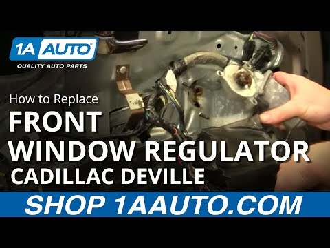 How To Install Replace Power Window Motor Front Cadillac DeVille 94-99 1AAuto.com