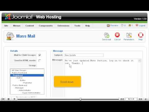 How to enable Email notifications for users | SiteGround Joomla Tutorial