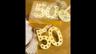 Recuerdos para bodas de oro