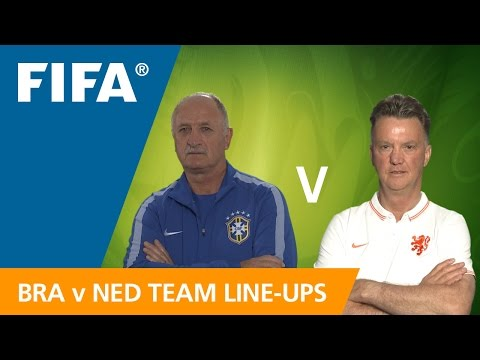 Brazil v. Netherlands - Team Line-ups EXCLUSIVE