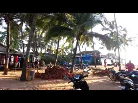 Goa Baga beach parking lot