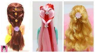 3 Cool Hairstyles for doll,Easy Hairstyles, Doll hairstyle, Princess hairstyle
