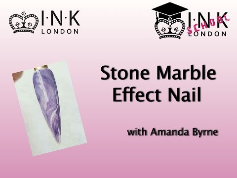 Stone Marble Effect Nail using INK London iLac