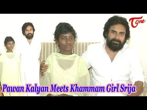 Pawan Kalyan Meets Khammam Girl Srija after Recovery