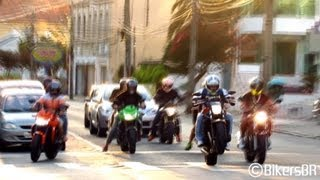 Kawasaki Z750, CB600F Hornet CB1000 GSX650F Bandit - Sounds, Accelerations and Revs!