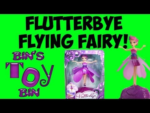 FLUTTERBYE FLYING FAIRY Review! When Fairies Attack! by Bin's Toy Bin