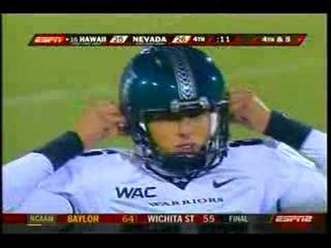UH Warriors vs Nevada WolfPack Video