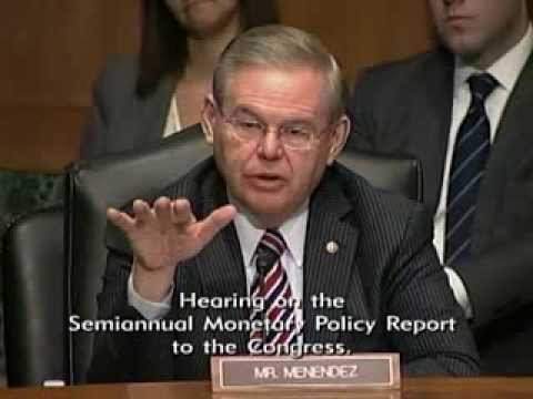 Sen. Menendez Asks Fed Chair Yellen Questions During Semiannual Monetary Policy Report Hearing