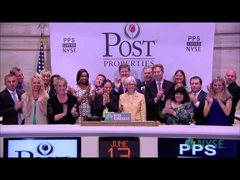 Post Properties Celebrates 20th Anniversary of Trading