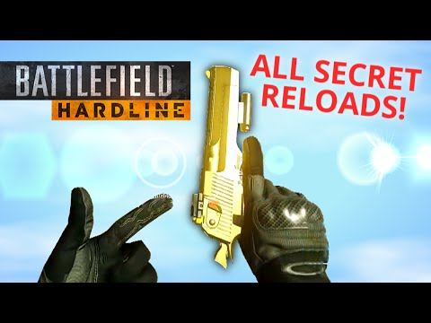 ALL RARE SECRET RELOAD ANIMATIONS! Battlefield Hardline Easter Eggs