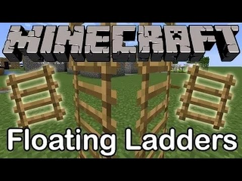 MINECRAFT 1.8: FLOATING LADDER TRICK TIP