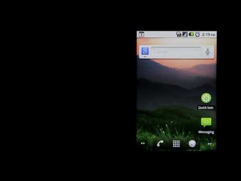 Optimus V flashlight feature test review for the Android based Virgin Mobile LG smart phone vm670