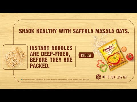 Saffola Masala Oats – The tasty way to stay fit