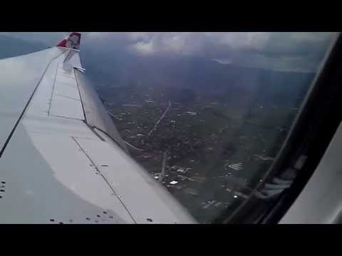 Airasia landing in kathmandu Tribhuwan International Airport,Nepal