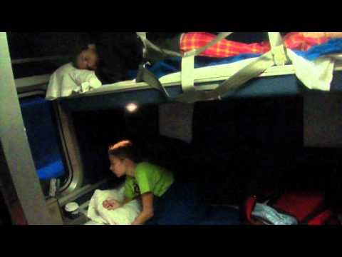 Waking up in the Family bedroom on Amtrak Empire Builder