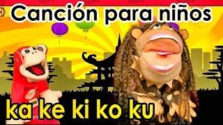 Canción ka ke ki ko ku - El Mono Sílabo - Videos Infantiles - Educación para Niños #
