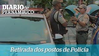 Postos policiais s�o retirados das ruas