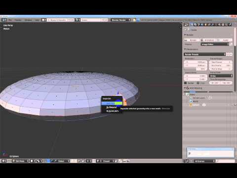 Make a hinge by rotating on an edge in Blender.