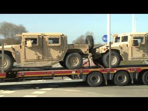"""Pratyboms Lietuvoje atgabentos JAV artilerijos sistemos """"Paladin"""""""