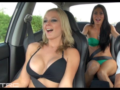 TWO Bikini Girls ride in 900hp EVO IX + Bonus Footage