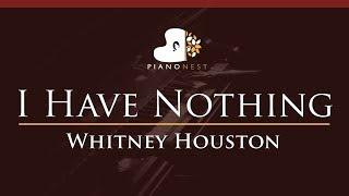 Whitney Houston I Have Nothing Higher Key Piano Karaoke Sing Along