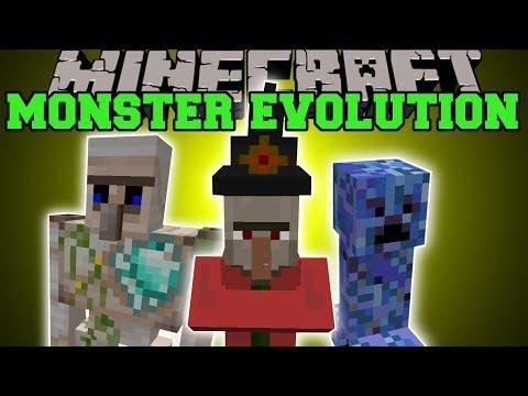 Minecraft: MONSTER EVOLUTION (MOBS WITH INSANE ATTACKS!) Mod Showcase