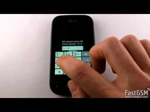 LG Optimus Net P690 Network Unlock Instructions   FastGSM