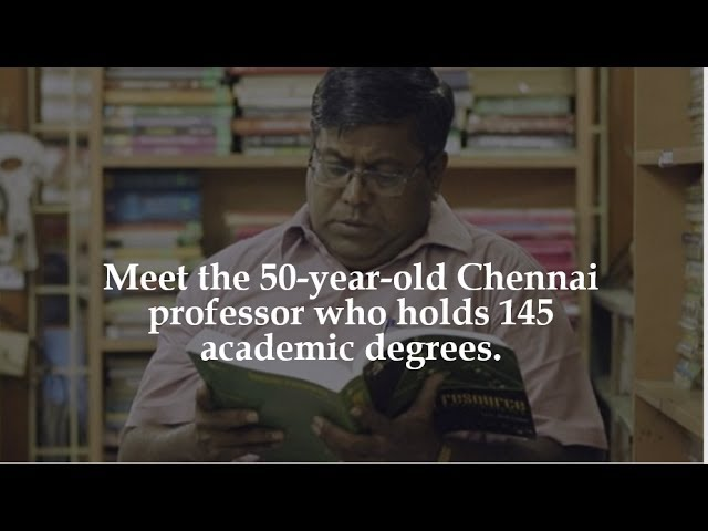 Meet the || 50 year old ||Chennai || professor who holds 145 || academic degrees || Brain Feast