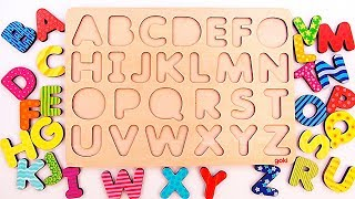 Learn The Alphabet for Kids   Learn Alphabet with Animals   Learn Alphabet A to Z with wooden toys