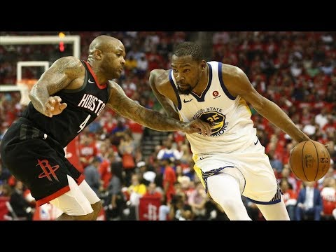 Warriors Win Game 1! Durant 37 Pts, Harden 41! 2018 NBA Playoffs