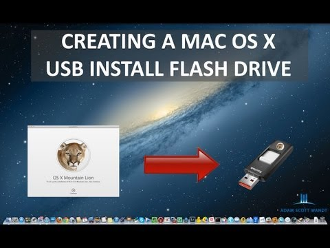 How to Create an OS X 10.8 Mountain Lion Install USB