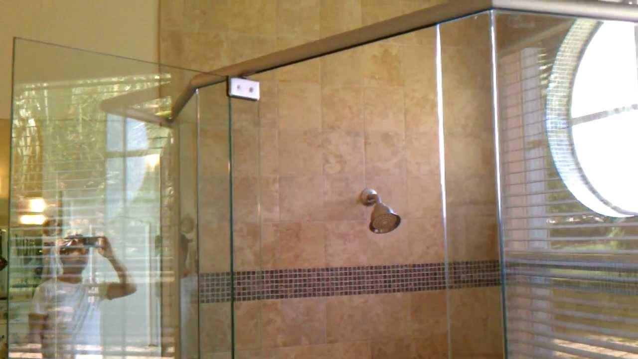 Frameless Shower Door Header Sistem Youtube