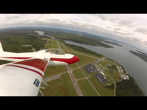 Schweizer SGS 2-32 over Bar Harbor, ME and Acadia Nat'l Park (KBHB) Rapid Descent! 6/6 HD