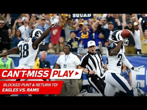 LA Blocks Punt & Gets the TD Return to Take the Lead vs. Philly!   Can't-Miss Play   NFL Wk 14