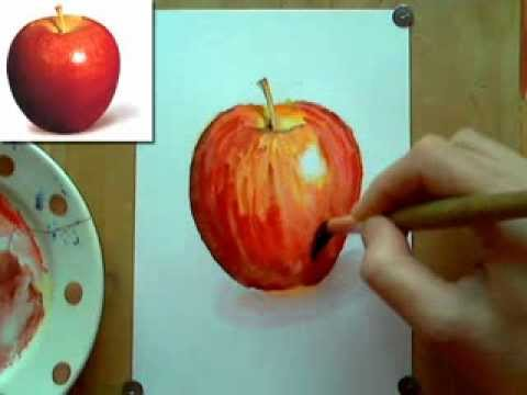 Как рисовать яблоко