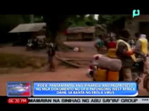 POEA, pansamantalang ipinatigil ang pagproseso ng mga dokumento ng OFW patungong West Africa