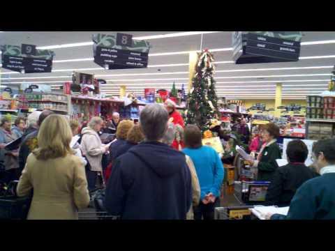 Flash Mob Kroger Hallelujah Chorus Mount Vernon Ohio 12-8-12