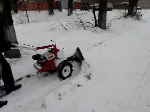Насадка на мотоблок для уборки снега своими руками