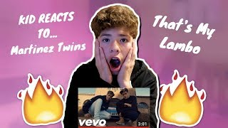 REACTING TO Martinez Twins - That's My Lambo!! (MARTINEZ TWINS) (OFFICIAL MUSIC VIDEO)