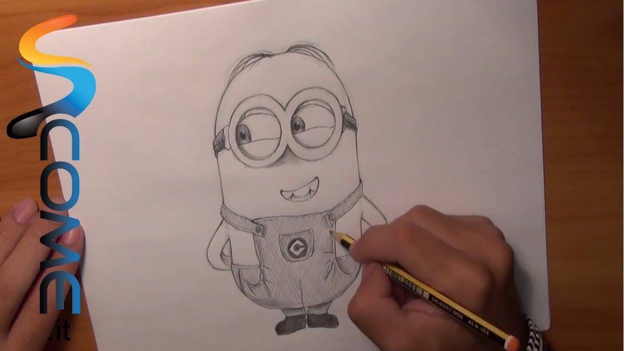 Come disegnare minions con due occhi di cattivissimo me - Come disegnare immagini di halloween ...