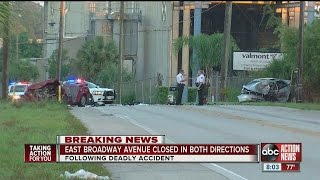Deadly traffic crash closes East Broadway Avenue