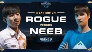 Rogue vs Neeb ZvP - Group B - WCS Global Finals 2017 - StarCraft II