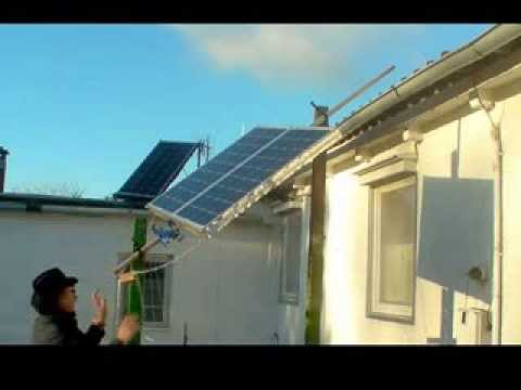 Solar Panel Nachführung  im Eigenbau / Self made Solar Tracker