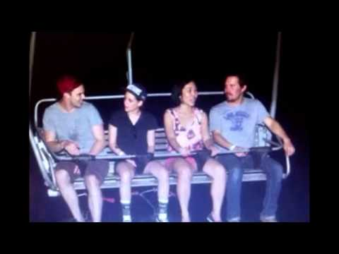 Kristen Stewart and Nicholas Hoult zip line in Singapore