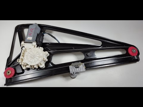 BMW E38 750 740 Rear Window Glass Regulator With Motor Removal