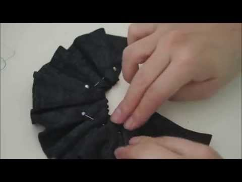 How to make doll outfit 27 Leather skirt & hairband