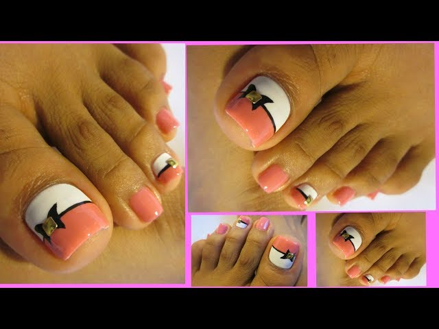 Bonito y rápido pedicure paso a paso/ Pretty and easy toe nail art