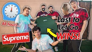 LAST TO LET GO WINS A BOX LOGO! (HYPEBEAST YOUTUBER EDITION)