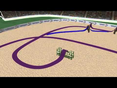 European Jumping championships 2011 – Day 1 Speed Class Course Walk